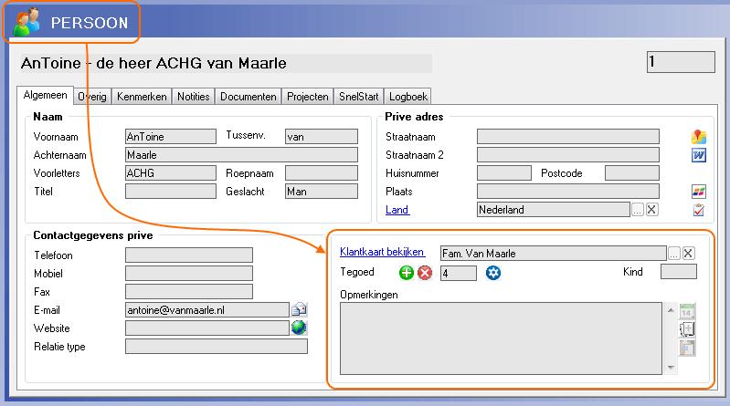 Klantenkaart gegevens - software voor kappers