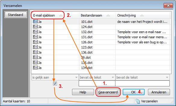 Verzameling Outlook Sjabloon