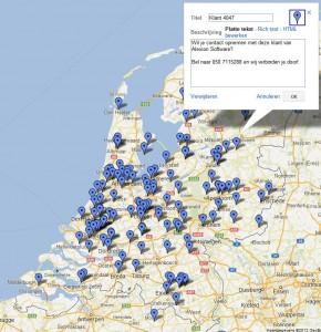Voorbeeld van jouw persoonlijke google maps plaatsmarkeringen