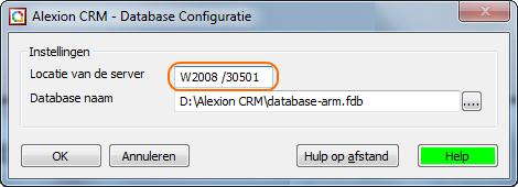 Nieuwe databaseinstellingen voor Alexion CRM