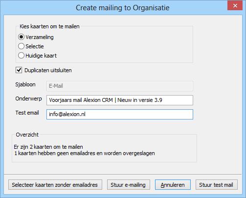 Outlook e-mailing maken | Nieuw in versie 3.9