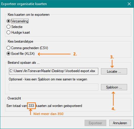 Alexion CRM - Exporteren naar Excel voor Greetz