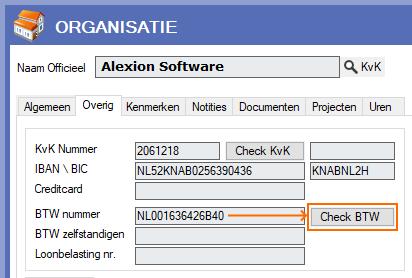 Alexion CRM - VIES check