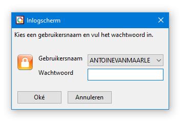 Inlogscherm Gebruikers