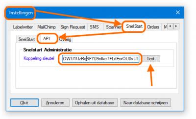 SnelStart API instellingen in Alexion CRM