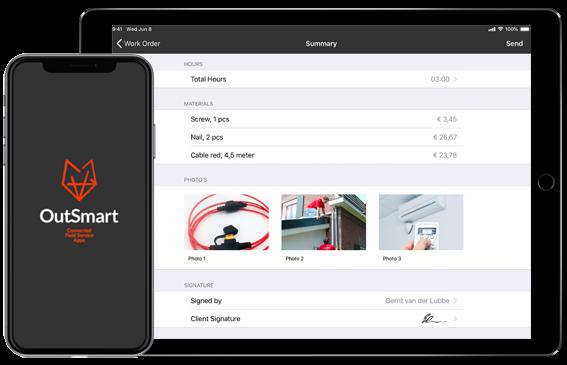 OutSmart werkbon app-